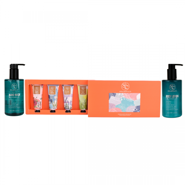 body lotion + handwash + hand and foot cream set
