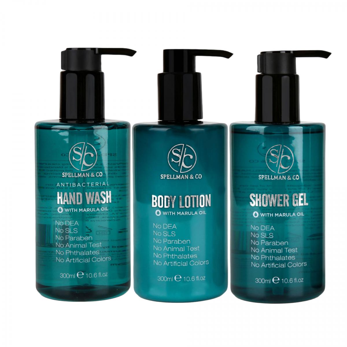 Shower Gel + AntiBacterial Hand Wash + Body Lotion
