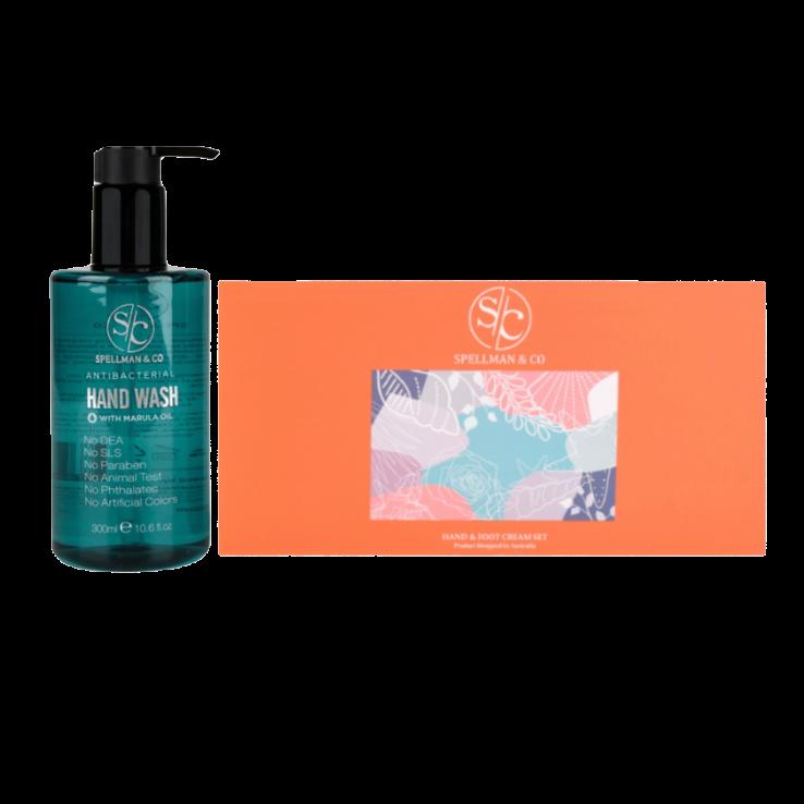 AntiBacterial Hand Wash + Hand & Foot Cream Set